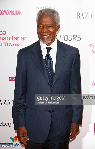 Koffi Annan attends 'Beds Are Burning' song launch by Kofi Annan and Havas Worldwide at Universite Paris Descartes on October 1 2009 in Paris France