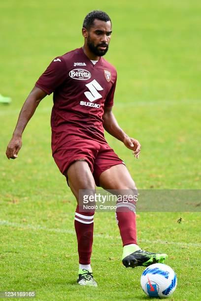 Koffi Djidji of Torino FC in action during the pre-season friendly football match between Torino FC and SSV Brixen. Torino FC won 5-1 over SSV Brixen.