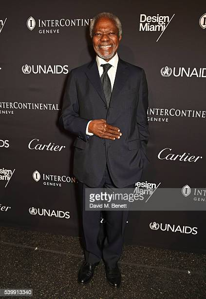 Kofi Annan attends the UNAIDS Gala during Art Basel 2016 at Design Miami/ Basel on June 13 2016 in Basel Switzerland