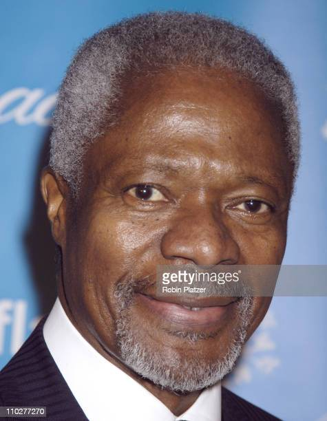 Kofi Annan during 2nd Annual UNICEF Snowflake Ball Arrivals at The Waldorf Astoria Hotel in New York City New York United States