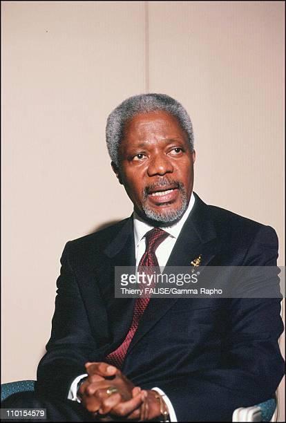 Kofi Annan in Bangkok Thailand on February 11 2000