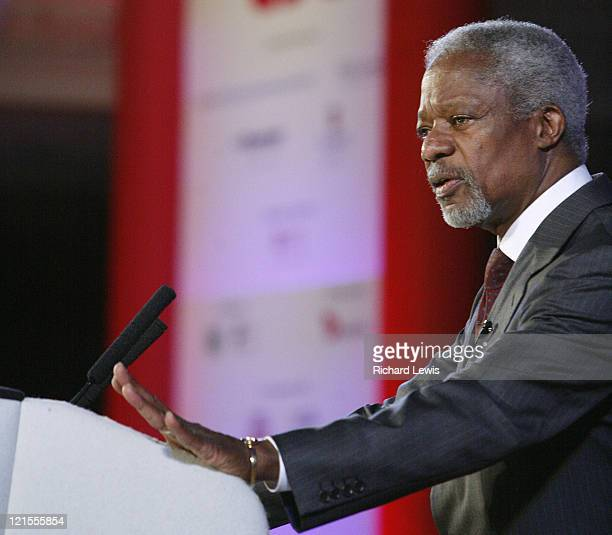 Kofi Annan pictured at the Leaders in London International Leadership Summit on November 29 2007 in London The event now in its forth year hosted a...