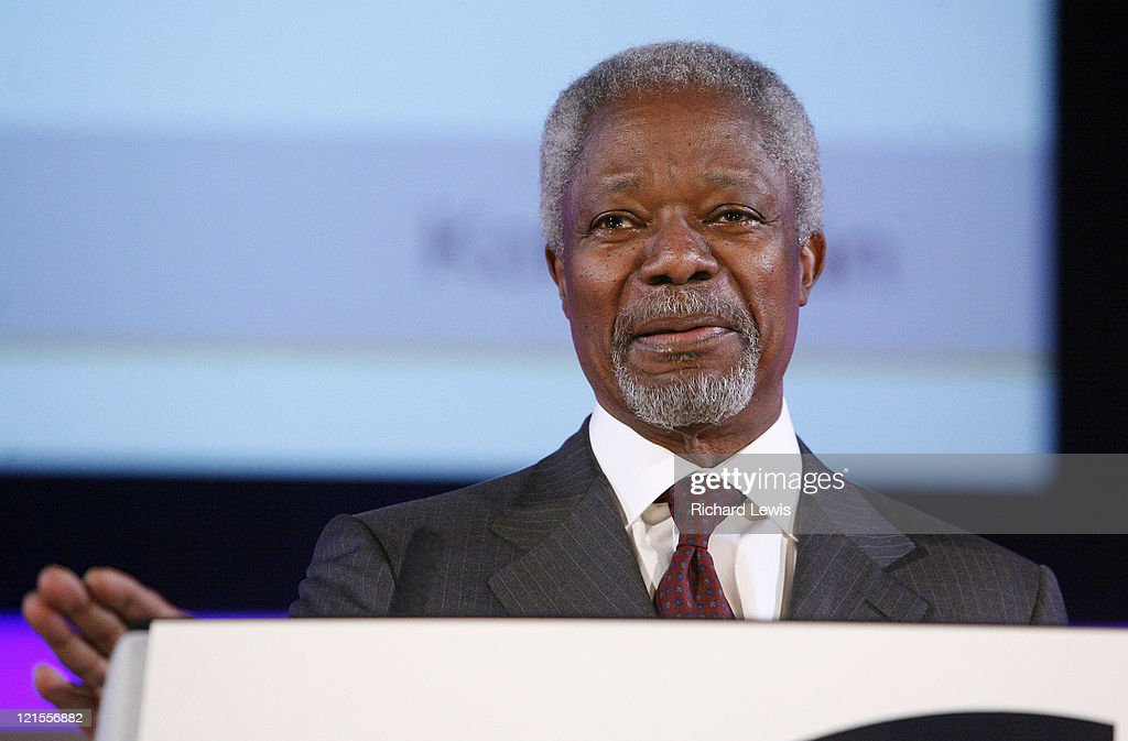 Kofi Annan pictured at the Leaders in London International Leadership Summit on November 29, 2007 in London. The event, now in its forth year, hosted a stellar line up of international speakers discussing aspects of business leadership to an audience of the UK an Europe's leading businessmen. Speakers include Kofi Annan, The Hon Al Gore, David Cameron, Sir Martin Sorrell and Karren Brady amongst others.