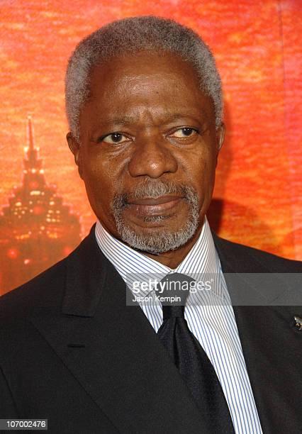 Kofi Annan United Nations Secretary General during Chinese Actress Ziyi Zhang Joins Special Olympics As Newest Global Ambassador November 10 2006 at...