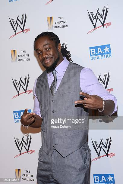 Kofi Kingston attends the WWE SummerSlam VIP KickOff Party at The Beverly Hills Hotel on August 16 2012 in Beverly Hills California