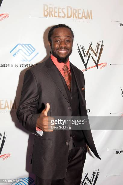 Kofi Kingston attends WWE's 2014 SuperStars For Kids at the New Orleans Museum of Art on April 3 2014 in New Orleans City