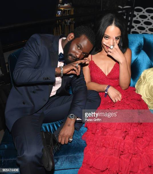 Kofi Siriboe and Bianca Lawson attend 49th NAACP Image Awards After Party at Pasadena Civic Auditorium on January 15 2018 in Pasadena California