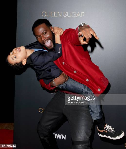 Kofi Siriboe and Ethan Hutchison attend the taping of 'Queen Sugar AfterShow' at OWN Oprah Winfrey Network on November 7 2017 in West Hollywood...