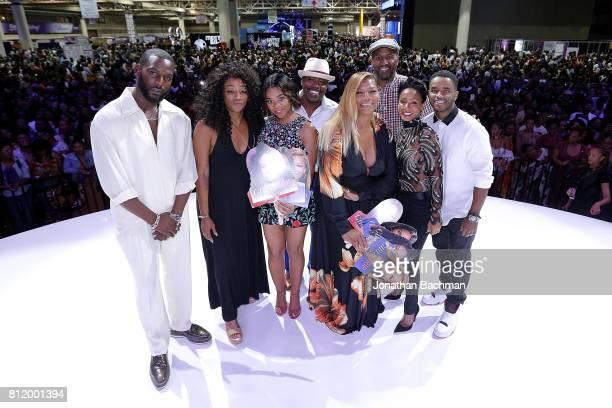 Kofi Siriboe Tiffany Haddish Regina Hall Will Packer Queen Latifah Malcolm Lee Jada Pinkett Smith and Larenz Tate from the movie Girls Trip pose for...