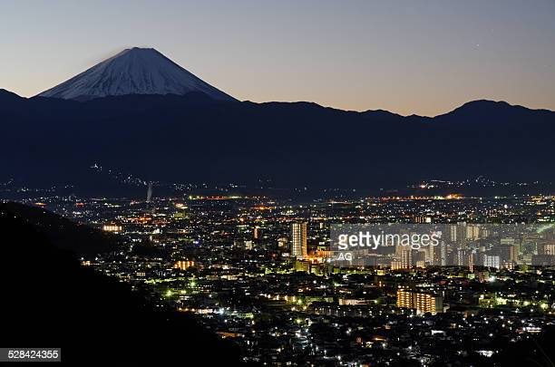 kofu city ( yamanashi, japan ) - yamanashi prefecture stock pictures, royalty-free photos & images