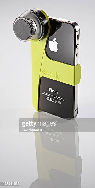 A Kogeto Dot 360 degree video lens for Apple iPhone 4 and 4S photographed during a studio shoot for Tap Magazine April 2 2012