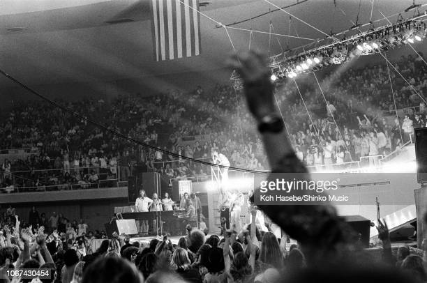 The Rolling Stones perform on stage on their Pacific Tour 1973 at the Honolulu International Center Hawaii United States January 1973