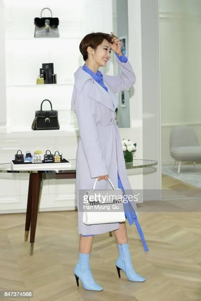 Koh JoonHee is seen at 'DELVAUX' at Shinsegae Department on September 15 2017 in Busan South Korea