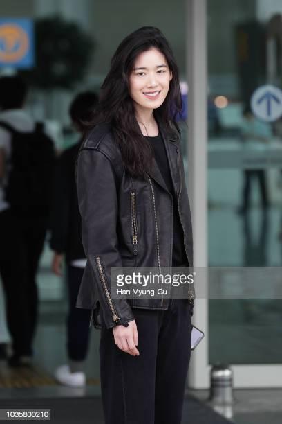 Koh JoonHee is seen on departure at Incheon International Airport on September 19 2018 in Incheon South Korea