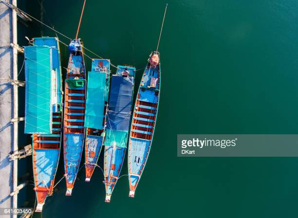 koh phangan harbour - anchorage alaska stock photos and pictures