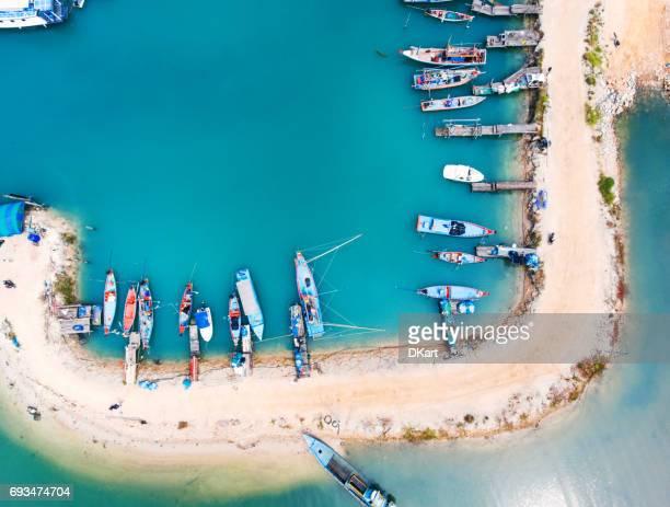 koh phangan-hafen - insel zypern stock-fotos und bilder