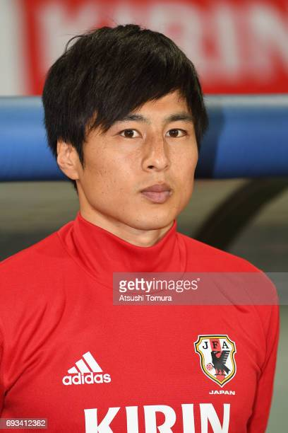 Kohei Kato of Japan looks on during the international friendly match between Japan and Syria at Tokyo Stadium on June 7 2017 in Chofu Tokyo Japan