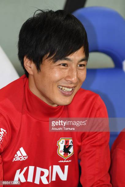 Kohei Kato of Japan smiles during the international friendly match between Japan and Syria at Tokyo Stadium on June 7 2017 in Chofu Tokyo Japan