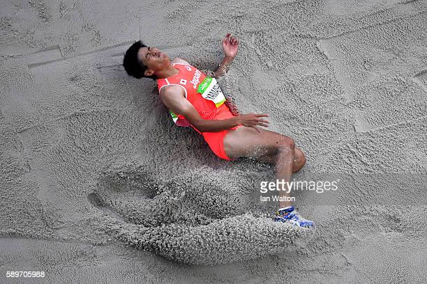 Kohei Yamashita of Japan competes in in the Men's Triple Jump qualifying on Day 10 of the Rio 2016 Olympic Games at the Olympic Stadium on August 15...