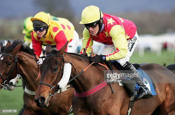 'Kohinor' ridden by Tony McCoy in action on his first outing after serving a seven day ban during The Entertain at Ludlow Mares' only Maiden Hurdle...