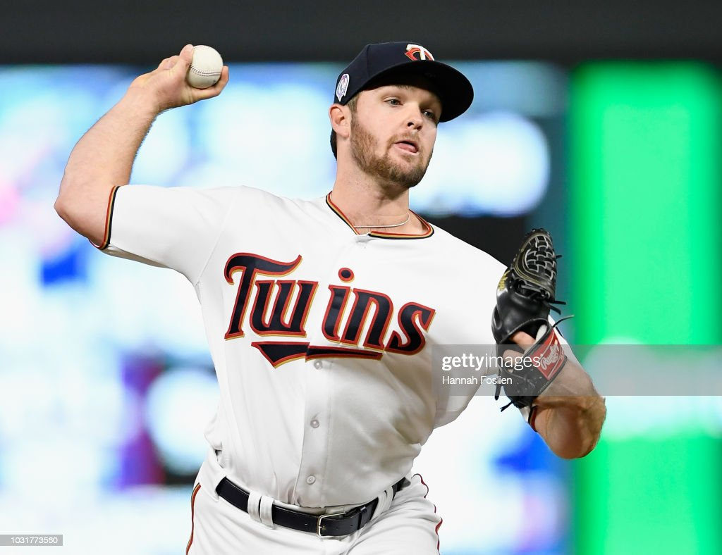 Kohl Stewart #53 of the Minnesota Twins delivers a pitch against the New York Yankees during the fourth inning of the game on September 11, 2018 at Target Field in Minneapolis, Minnesota. The Twins defeated the Yankees 10-5.