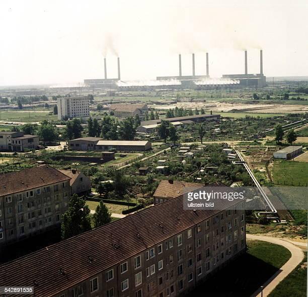 Kohlekraftwerk Lübbenau SpreewaldBezirk Cottbus 70er Jahre
