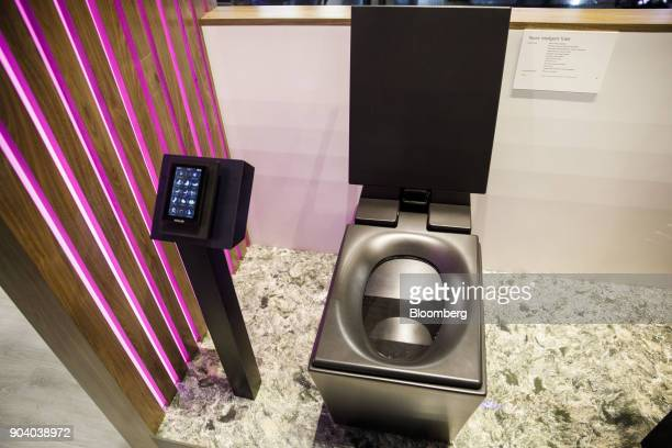 A Kohler Co Numi intelligent toilet stands at the 2018 Consumer Electronics Show in Las Vegas Nevada US on Thursday Jan 11 2018 Electric and...