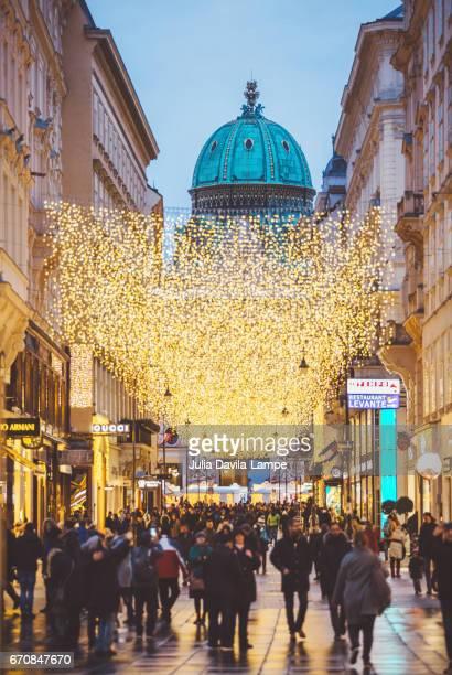 Kohlmarkt at Christmas Time.