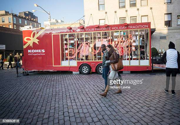 Kohl's department store presented its pop-up trailer promoting Christmas merchandise and their online shopping in the Meatpacking District in New...