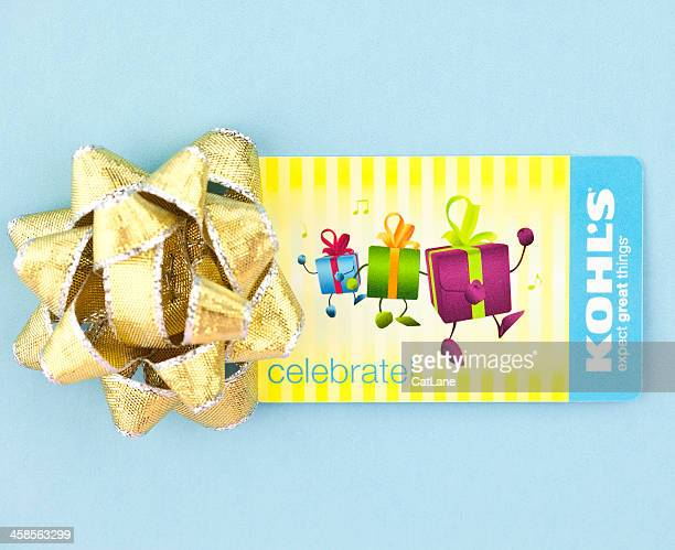 kohl's gift card - kohls stock photos and pictures