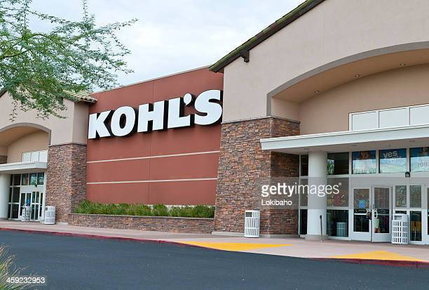 kohl's retail department store front with sign - kohls stock photos and pictures