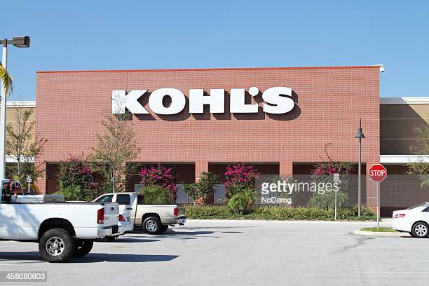 kohl's retail store in a south florida mall - kohls stock photos and pictures