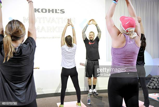 Kohl's Wellness Ambassador Bob Harper instructs during the Kohl's Motivation Market on January 12 2017 in Los Angeles California