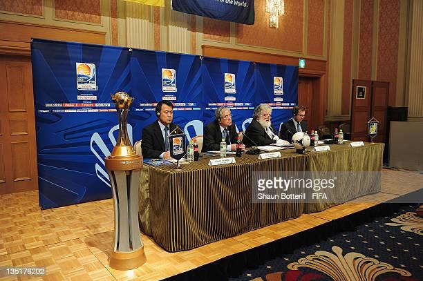 Kohzu Tashima Japan Football Association General Secretary Junji Ogura Japan Football Association President Chuck Blazer Chairman of the Organising...