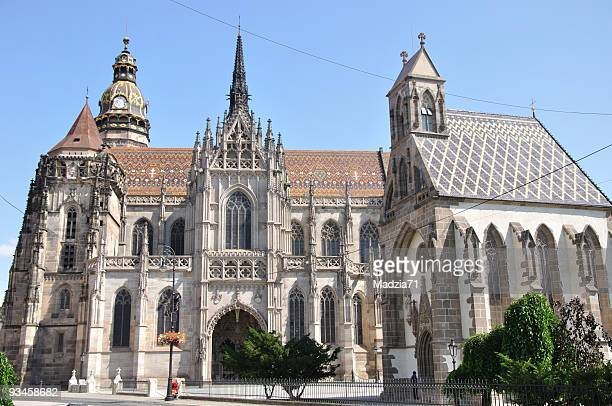 košice - st. elisabeth cathedral - kosice stock photos and pictures