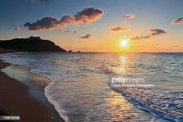 koijigahama sunrise - aichi prefecture stock pictures, royalty-free photos & images