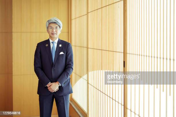 Koji Fujiwara, president and chief executive officer of Mizuho Bank Ltd., at the company's headquarters in Tokyo, Japan, on Friday, Oct. 30, 2020....