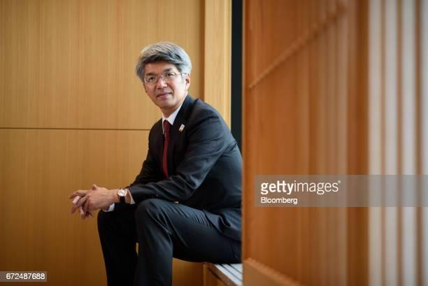 Koji Fujiwara president and chief executive officer of Mizuho Bank Ltd poses for a photograph in Tokyo Japan on Tuesday April 18 2017 Mizuho...