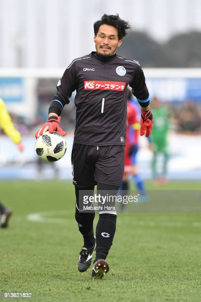 Koji Homma of Mito HollyHock in action during the preseason friendly match between Mito HollyHock and Kashima Antlers at K's Denki Stadium on...