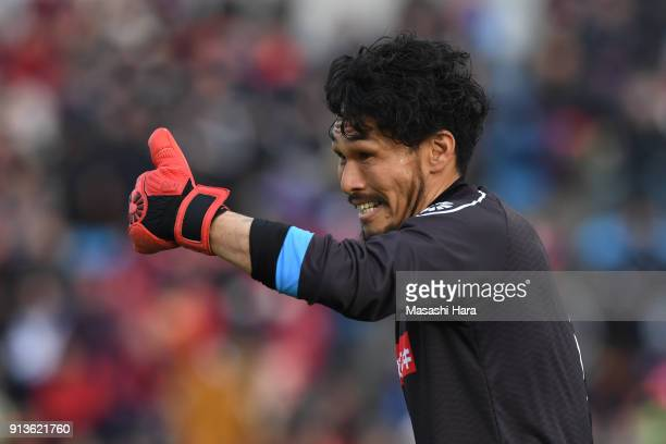 Koji Homma of Mito HollyHock looks on during the preseason friendly match between Mito HollyHock and Kashima Antlers at K's Denki Stadium on February...