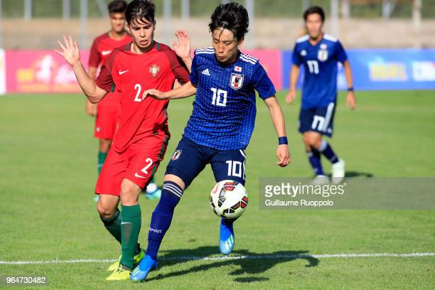 Koji Miyoshi of Japan during U20 match between Portugal and Japan of the International Football Festival tournament of Toulon on May 31 2018 in...
