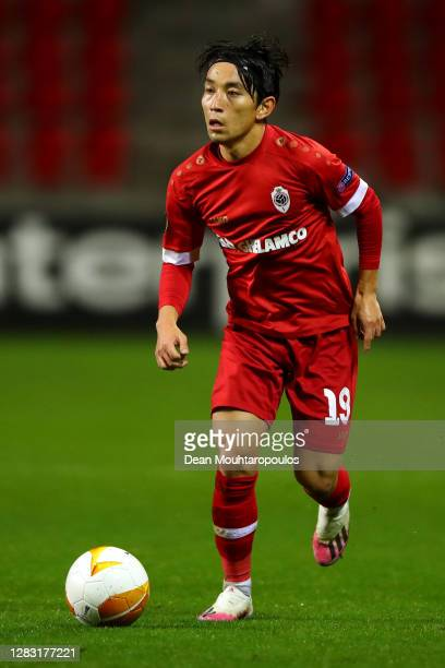 Koji Miyoshi of Royal Antwerp in action during the UEFA Europa League Group J stage match between Royal Antwerp and Tottenham Hotspur at...