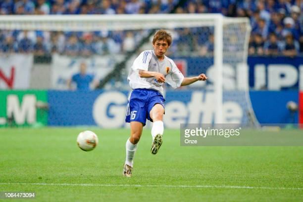 Koji Nakata of Japan during the World Cup match between Japan and Belgium in Saitama Stadium in Saitama Japan on June 4th 2002