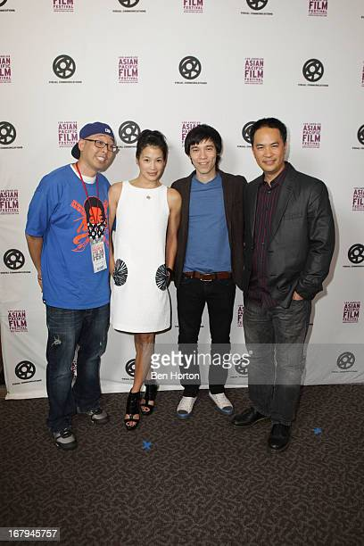 "Koji Sakai, Eugenia Yuan, Jason Tobin, and Stanley Y attend the 2013 LA Asian Pacific Film Festival - opening night premiere of ""Linsanity"" at the..."