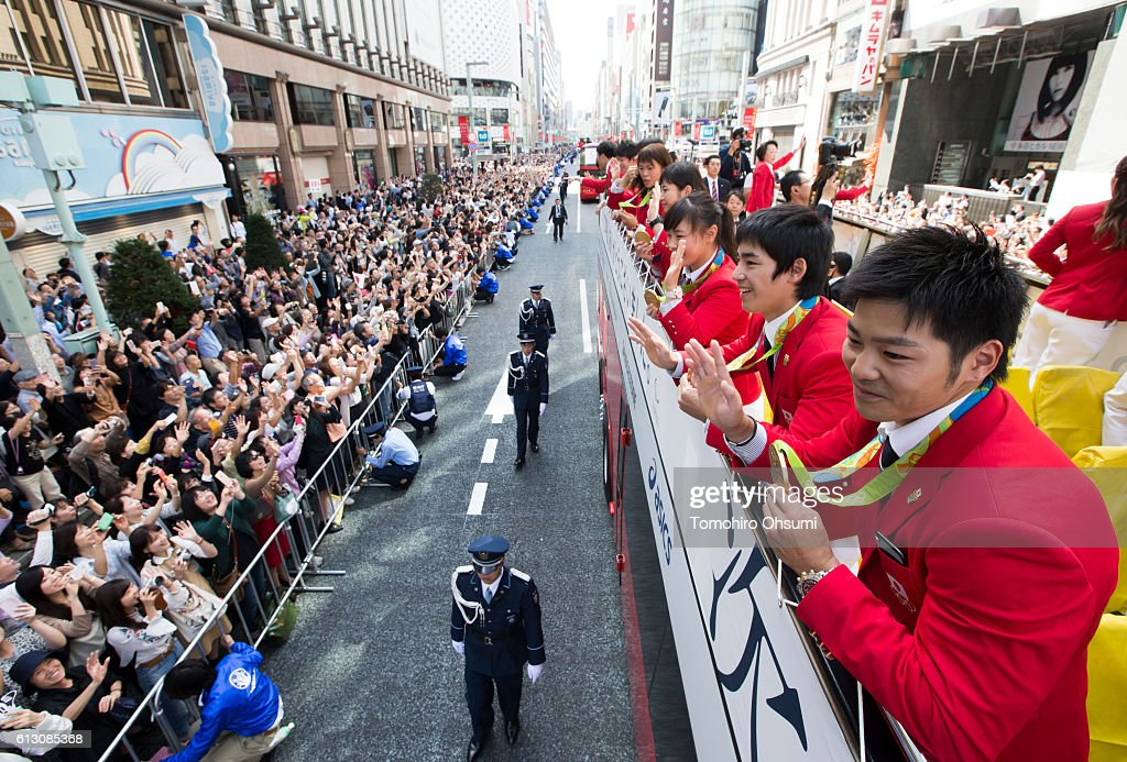 Japanese Olympic Medalists Parade : News Photo