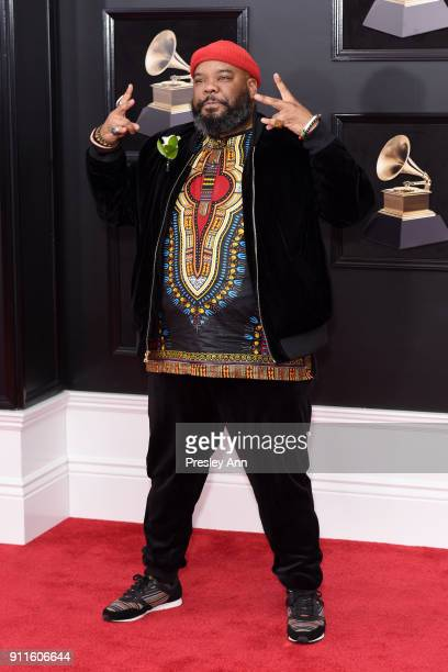 Kokayi attends the 60th Annual GRAMMY Awards Arrivals at Madison Square Garden on January 28 2018 in New York City