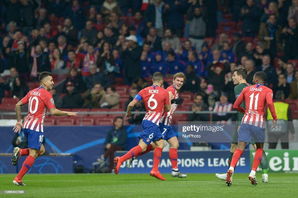 Club Atletico de Madrid v AS Monaco - UEFA Champions League Group A : News Photo