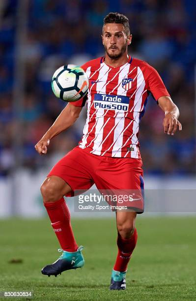 Koke of Atletico de Madrid in action during the Pre Season Friendly match between Getafe CF and Atletico de Madrid at Coliseum Alfonso Perez Stadium...