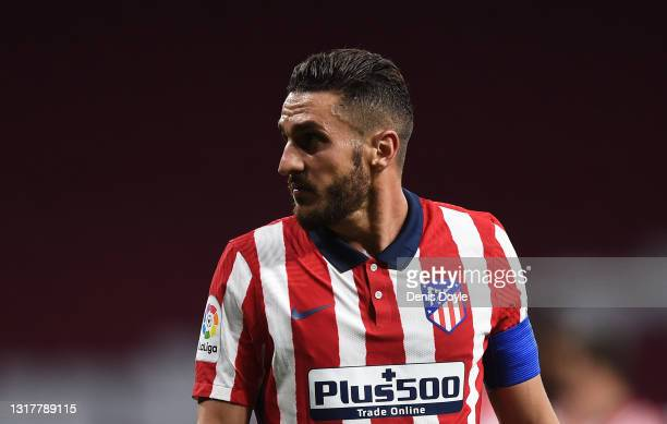 Koke of Atletico de Madrid looks on during the La Liga Santander match between Atletico de Madrid and Real Sociedad at Estadio Wanda Metropolitano on...