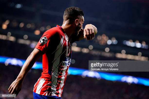 Koke of Atletico de Madrid reacts during the UEFA Champions League group C match between Atletico Madrid and Chelsea FC at Vicente Calderon Stadium...